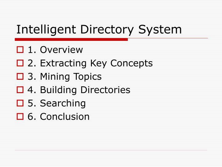 Intelligent Directory System