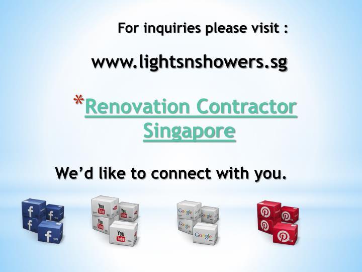 For inquiries please visit :