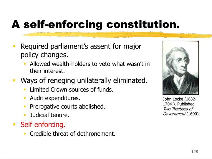 A self-enforcing constitution.