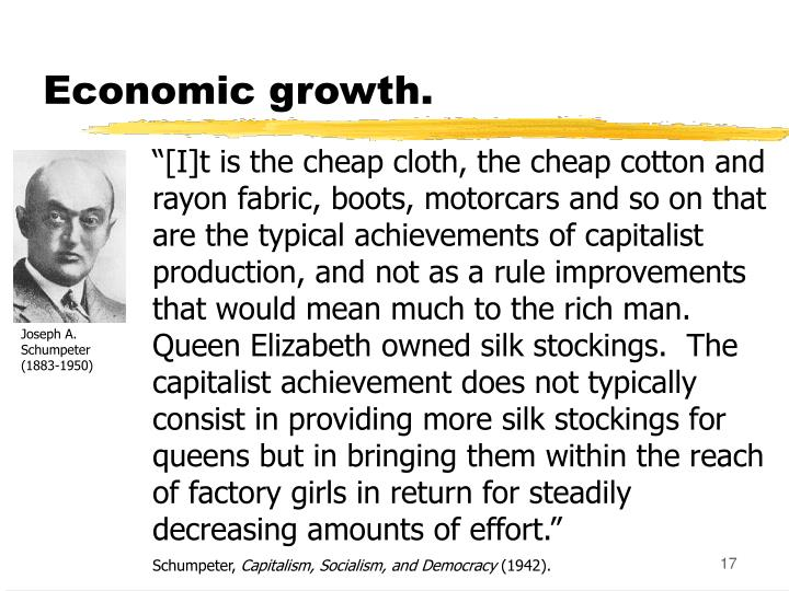 Economic growth.
