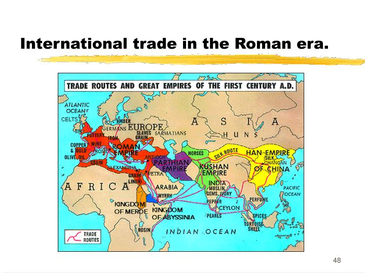 International trade in the Roman era.