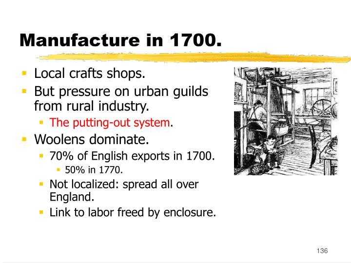 Manufacture in 1700.