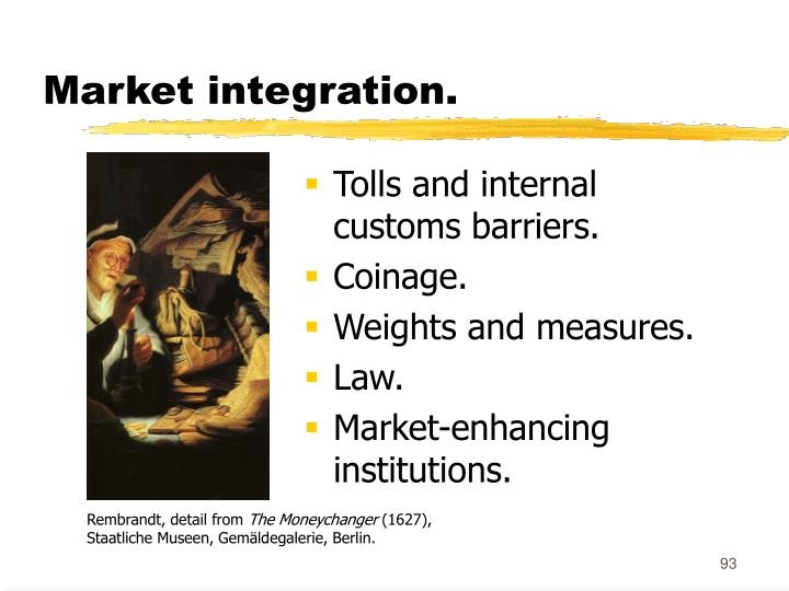 Market integration.