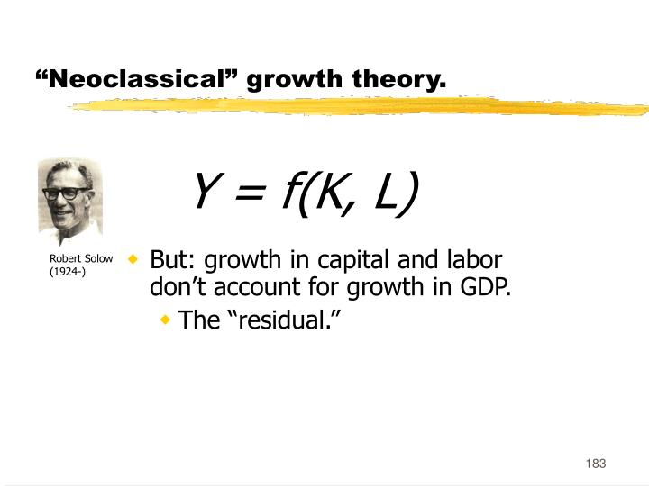 """Neoclassical"" growth theory."