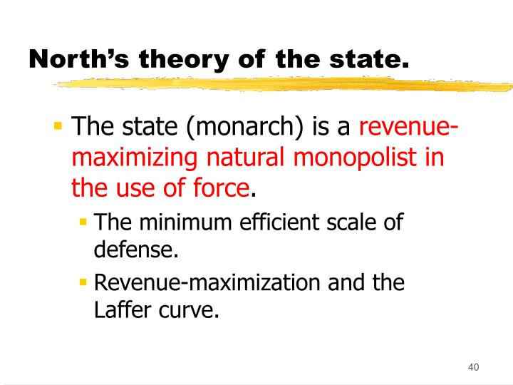 North's theory of the state.