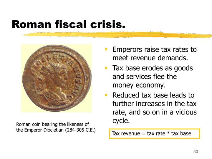Roman fiscal crisis.