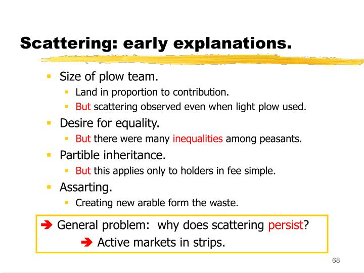 Scattering: early explanations.