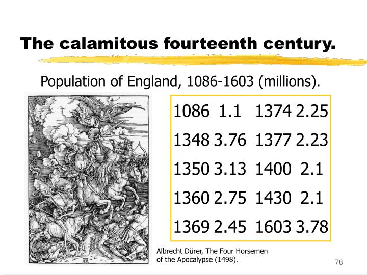 The calamitous fourteenth century.