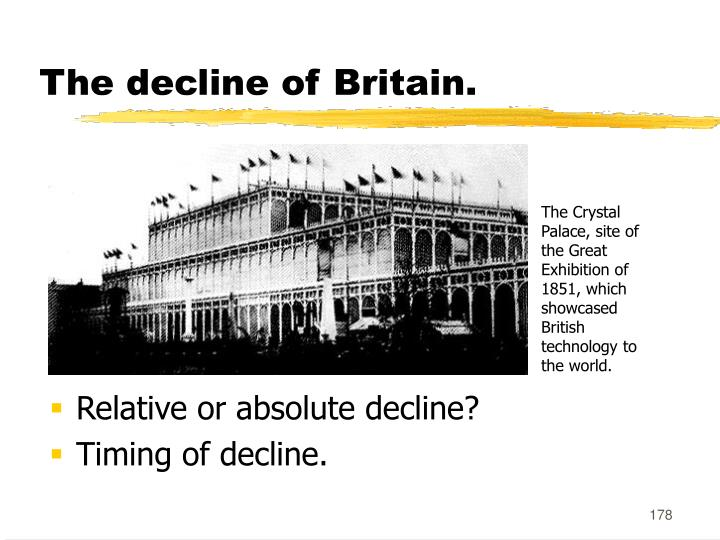 The decline of Britain.