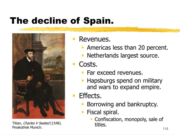 The decline of Spain.