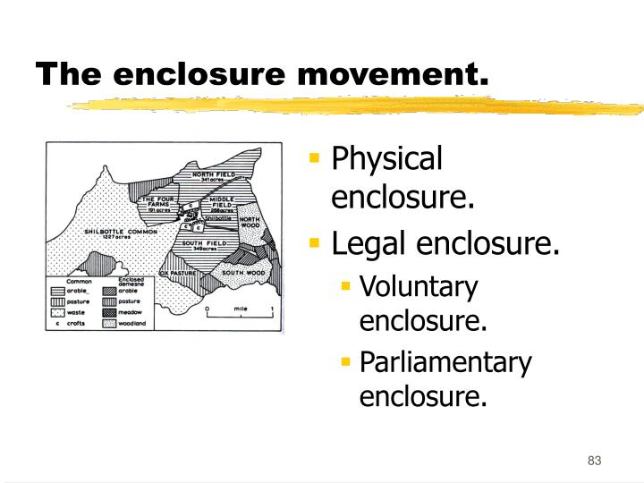 The enclosure movement.