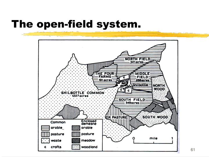 The open-field system.