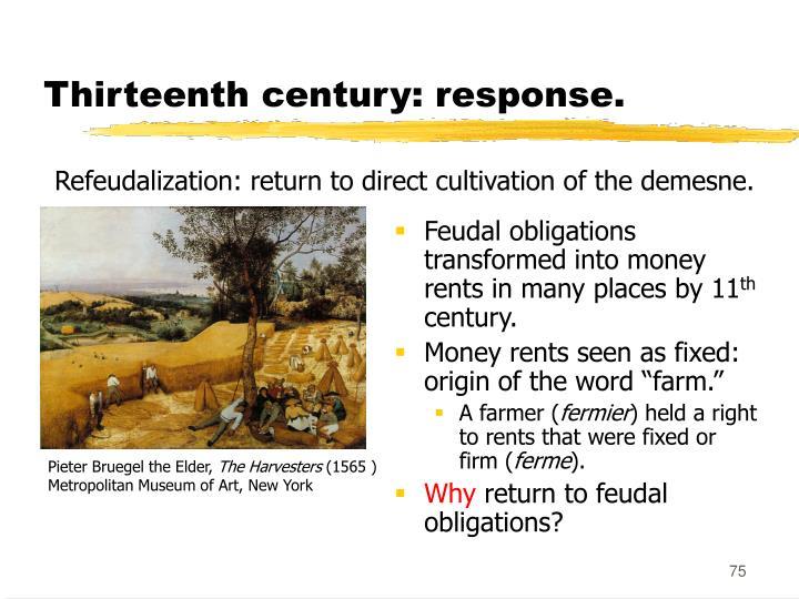 Thirteenth century: response.
