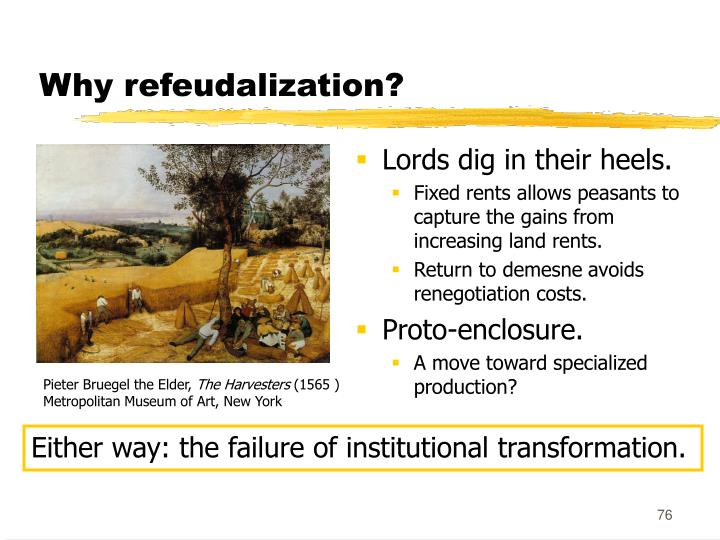 Why refeudalization?