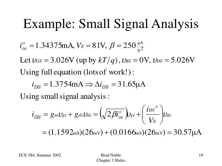Example: Small Signal Analysis
