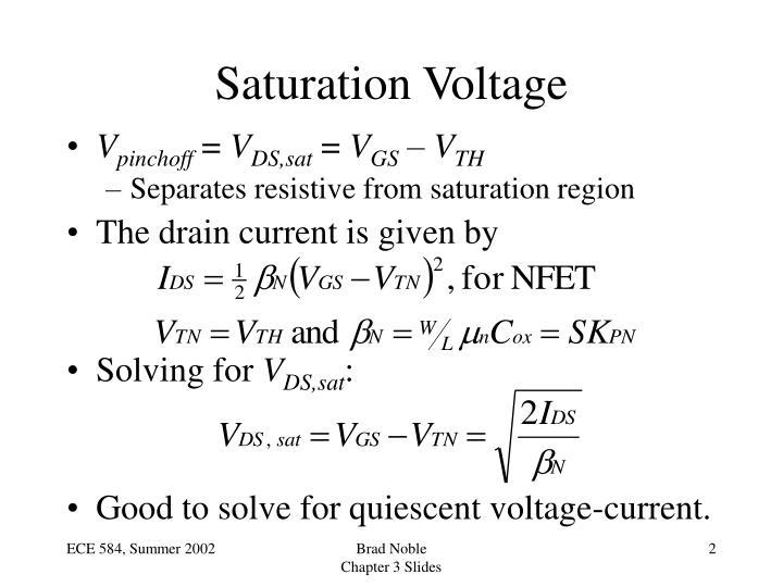 Saturation Voltage