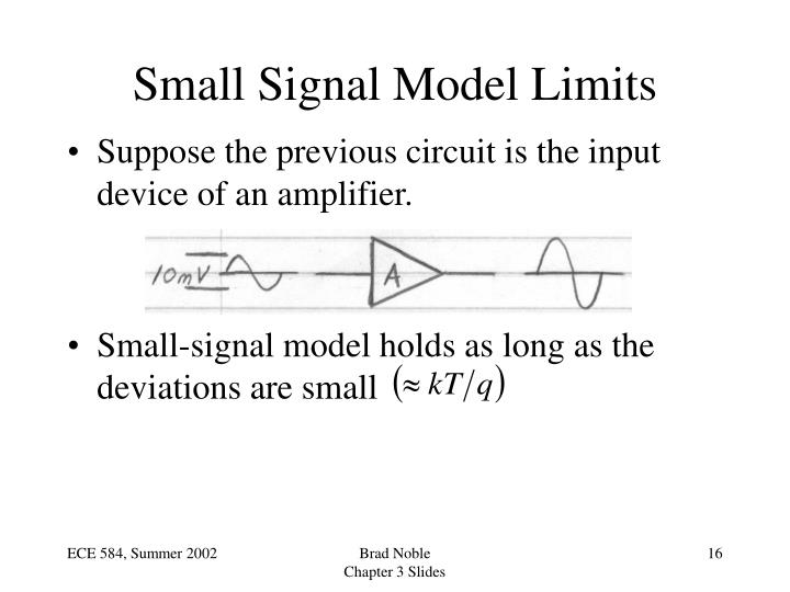 Small Signal Model Limits