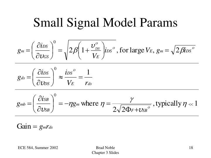Small Signal Model Params