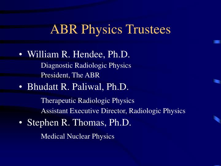 ABR Physics Trustees