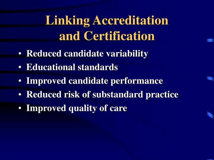 Linking Accreditation