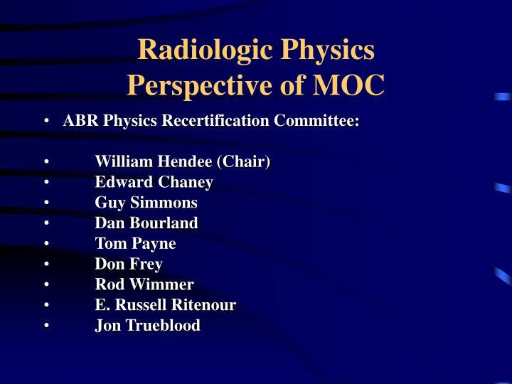 Radiologic Physics