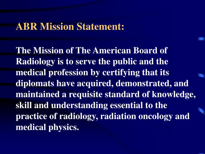 ABR Mission Statement: