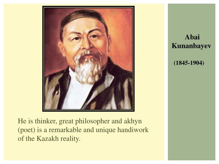 He is thinker, great philosopher