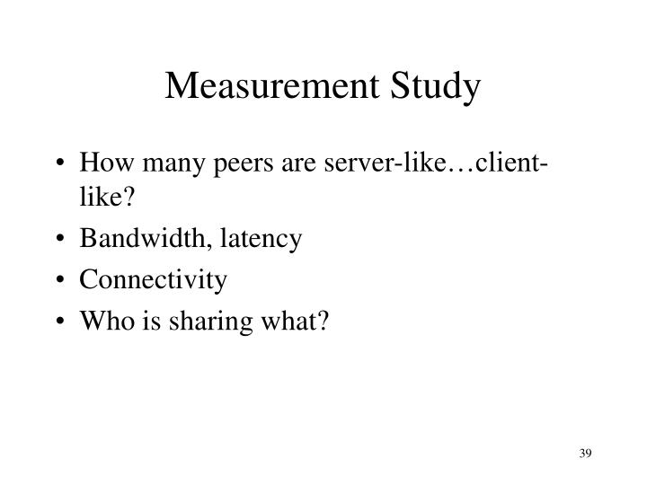 Measurement Study