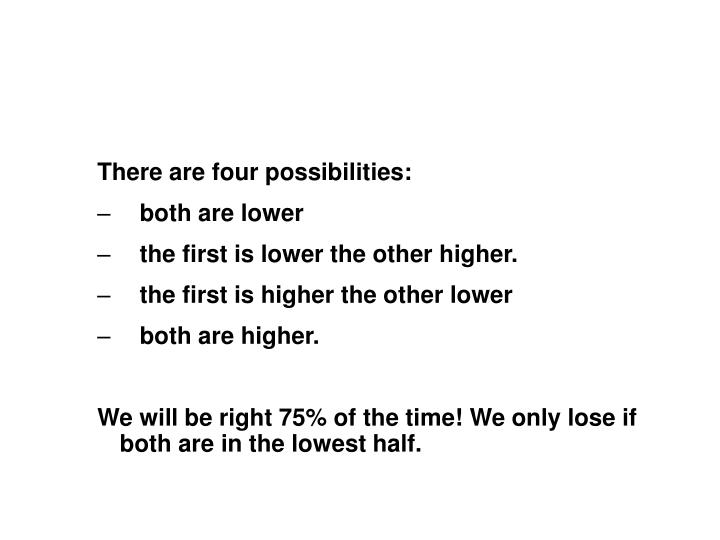 There are four possibilities: