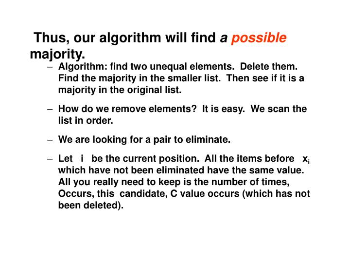 Thus, our algorithm will find