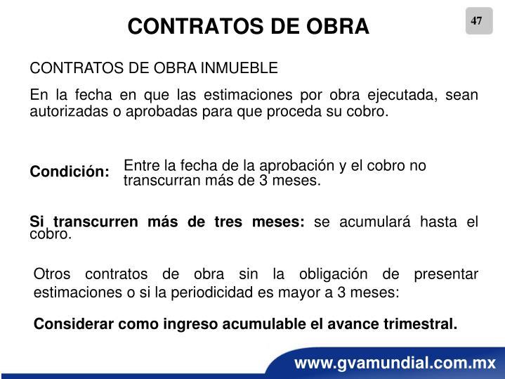 CONTRATOS DE OBRA