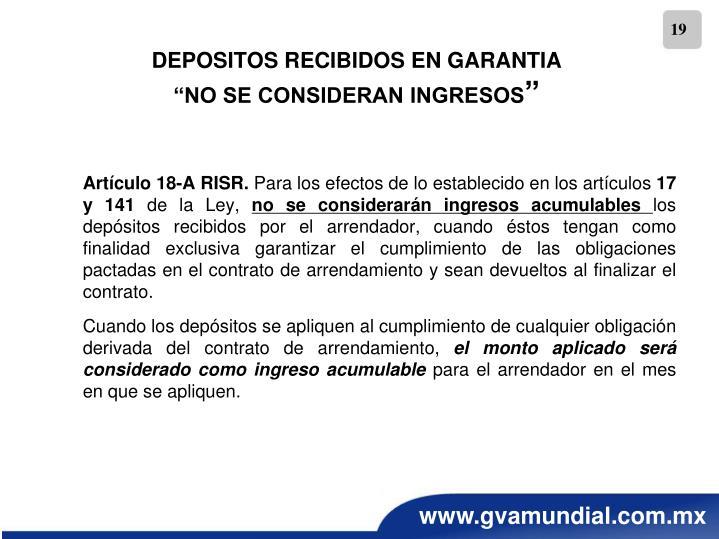 Artículo 18-A RISR.
