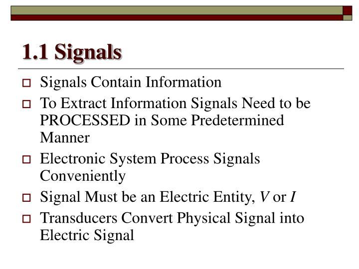 1.1 Signals