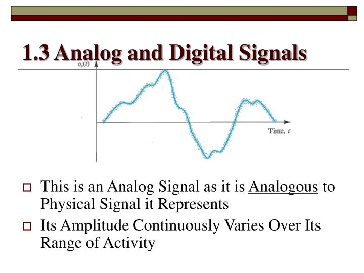 1.3 Analog and Digital Signals