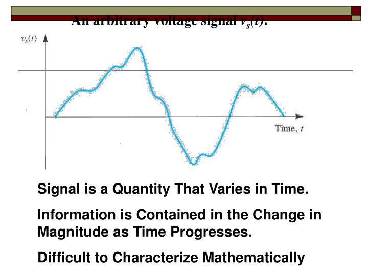 An arbitrary voltage signal