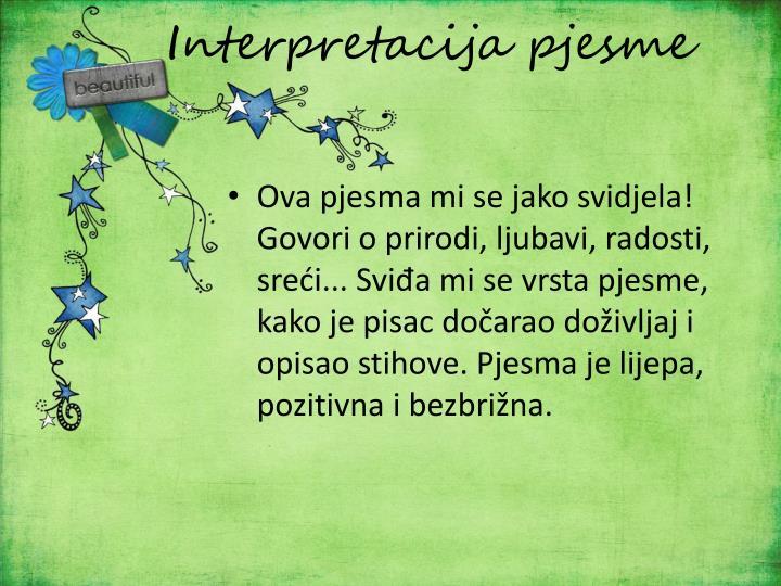 Interpretacija pjesme