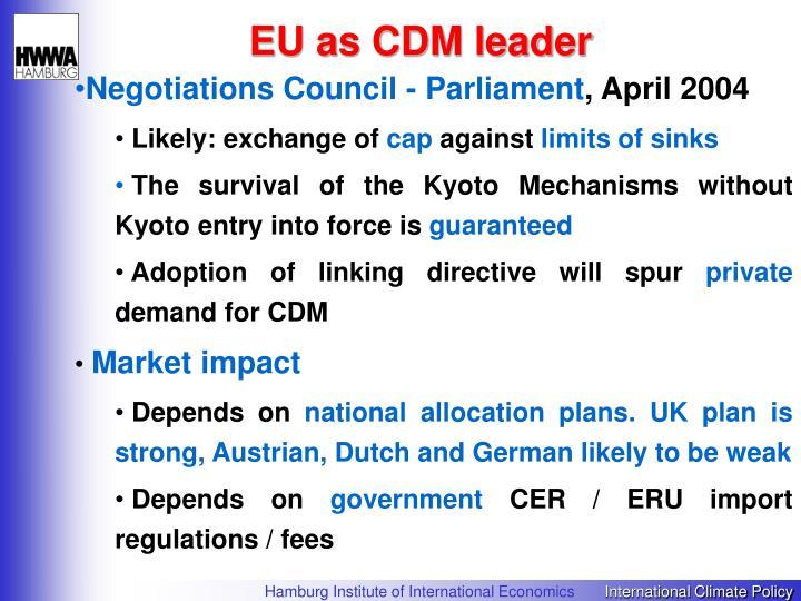 EU as CDM leader