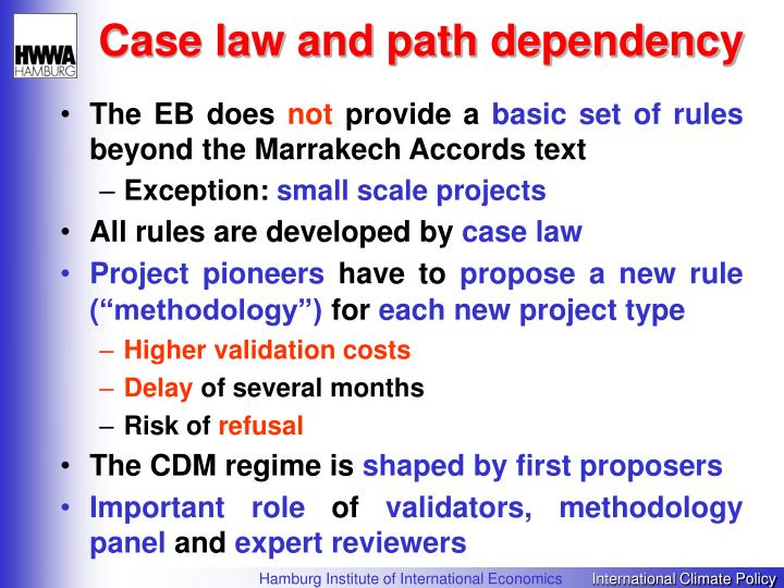Case law and path dependency