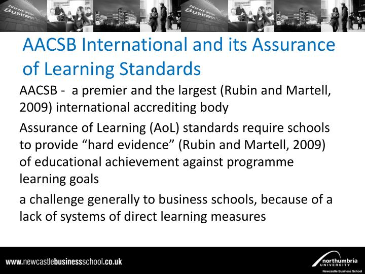 Aacsb international and its assurance of learning standards