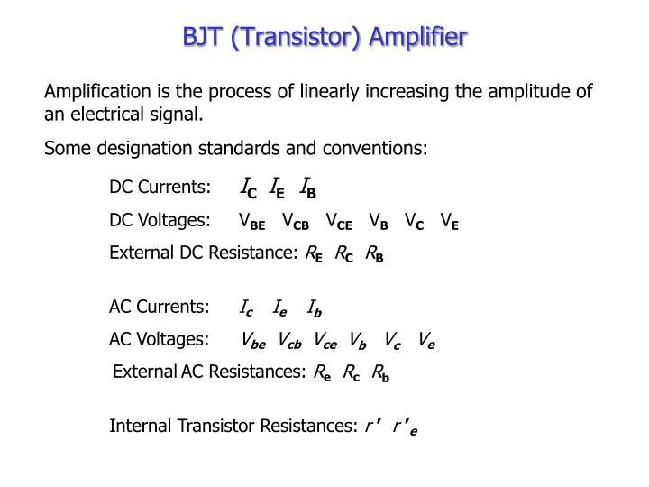 BJT (Transistor) Amplifier