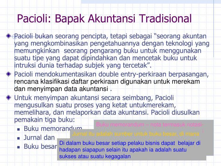 Pacioli: Bapak Akuntansi Tradisional