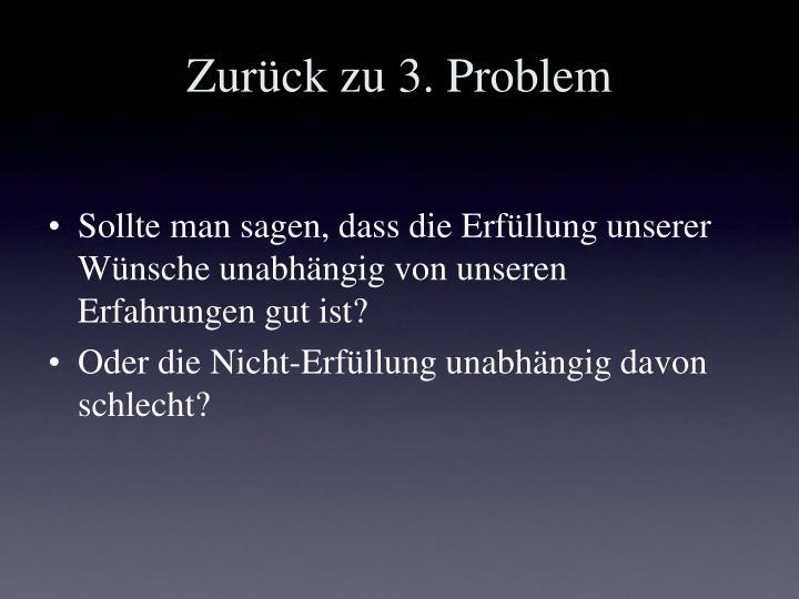 Zurück zu 3. Problem