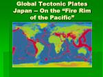 global tectonic plates japan on the fire rim of the pacific