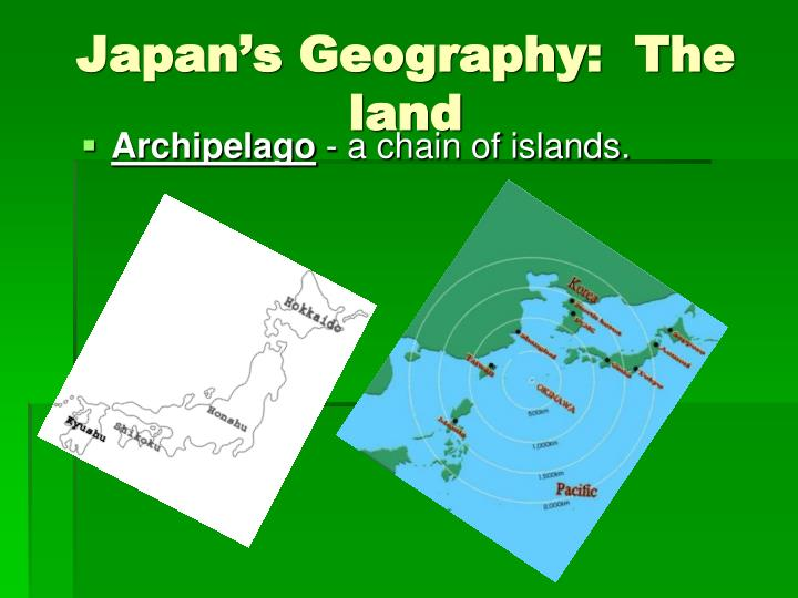 Japan's Geography:  The land