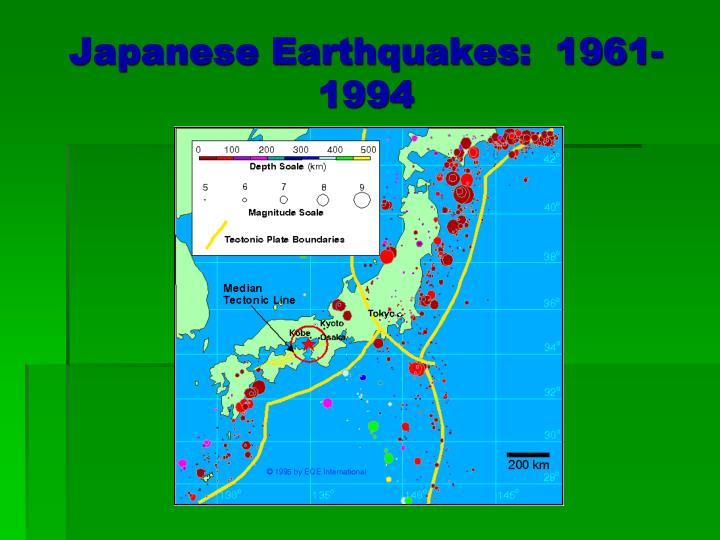 Japanese Earthquakes:  1961-1994