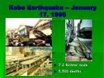 kobe earthquake january 17 1995