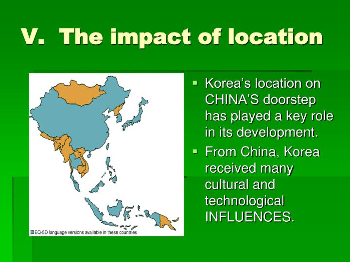 V.  The impact of location