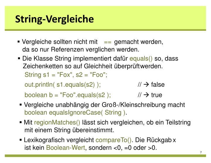 String-Vergleiche