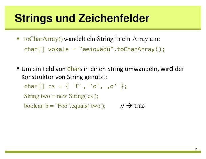 Strings und Zeichenfelder