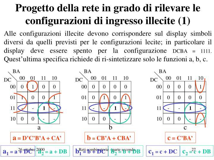 Progetto della rete in grado di rilevare le configurazioni di ingresso illecite (1)